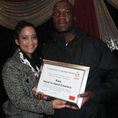 Ram being awarded Best Supporting Business at the 2015 Clinic Controller Dinner